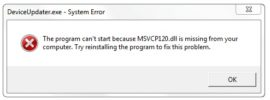 MSVCR120.dll is Missing