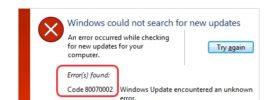 Windows Update Error Code 0x80070002
